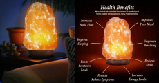 Natural Hand Carved Himalayan Rock Salt Lamp ONLY $16.99!