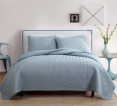 Nina Textured Geometric Pattern 3 PC Quilt Set $22.49 (REG $86.57)