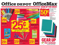 Office Depot/Office Max Back to School Supplies as Low as $0.25 Starting 7/12!