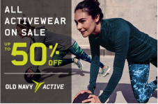 Old Navy: 50% Off All Activewear! Starting At $7.00!