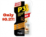 Oscar Mayer P3 Protein Packs Only $0.27 at Target!
