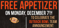 FREE Appetizer At Outback Today Only!