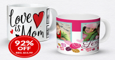 New! Get A Custom Photo Mug For Only $1.00!