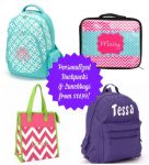 Personalized Backpacks and Lunch Bags from $14.99!
