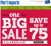 Pier 1 Imports: Up to 75% off Christmas Clearance Sale (as Low as 18¢!)