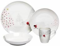 Love To Host? Get This Melange 16-Piece Santa Dinnerware Set For Only $30.36!