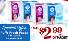Puffs Fresh Faces Face Wipes Just $2.99 at Target (reg. $4.99)