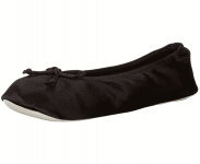 isotoner Women's Satin Ballerina Slipper with Bow, Suede Sole $14.00 (REG $24.00)