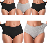 Mid Waist No Muffin Top Full Coverage Cotton Brief Ladies Panties Lingerie $20.39 (REG $65.99)