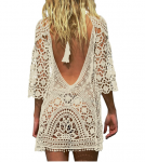 Jeasona Women's Bathing Suit Cover Up Crochet Lace Bikini Swimsuit Dress $18.99 (REG $36.00)
