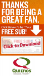 Quiznos Free Sub with Sub and Drink Purchase