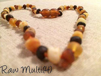 Raw Multi 12.5 Inch Baltic Amber Teething Necklace Only $13.99! Retails $49.99!