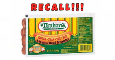 UH-OH! Recall On More Than 200,000 Pounds of Nathan's Beef Franks!