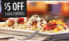 Ruby Tuesday: $5 off 2 Entrees Coupon (New Members)