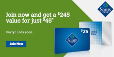 Sam's Club Plus Membership + $25 Gift Card And More Only $45.00! A $245 Value!