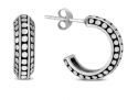 Antique Finished J Hoop Earrings in .925 Sterling Silver -$13.99(88% Off)