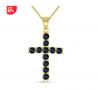 Black Sapphire Cross Pendant in .925 Sterling Silver -$24.99(87% Off)