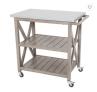 Galvanized Steel Top Indoor/Outdoor Bar Cart in Stone -$129 (48% Off)