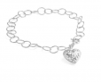 Heart Charm Bracelet in Plated .925 Sterling Silver -$7.99(93% Off)