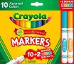12 count, Crayola Markers Assorted colors Bonus Pack -$0.97(78% Off)