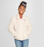 Side Zip Sherpa Jacket – Cream $14.99 (REG $29.98)
