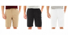 St. John's Bay Men's Legacy Flat Front Stretch Shorts Just $9.09/Each At JC Penney!