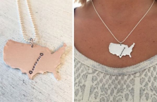 Cute Hand-Stamped United States Keychain or Necklace Only $11.99! Normally $24.00!
