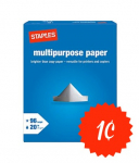 Staples: Get a Ream of Multi-Purpose Paper For Only $0.01 After Rebate!