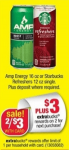 2 FREE Starbucks Refreshers and AMP Energy Drinks at CVS!
