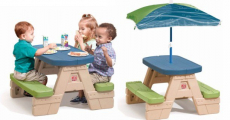 HOT! Step2 Sit & Play Junior Picnic Table with Removable Umbrella ONLY $4.00 At Walmart!