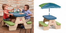 Step2 Sit & Play Kids Picnic Table With Umbrella Just $38.99 Shipped!