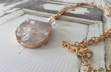 Large Natural Stone Iced Druzy Necklace Only $11.99! Normally $58.00!