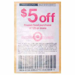 $5 off $25 Target Frozen Food Purchase Coupon