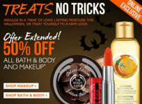 The Body Shop: 50% off ALL Bath, Body and Makeup Products