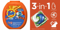 Tide Pods 3-in-1 HE Turbo Laundry Detergent ONLY $0.19/Pods Shipped!