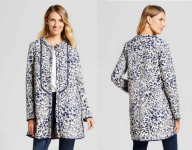 Long Leaf Printed Quilted Coat Only $22.48 (reg $75) + FREE Pickup!