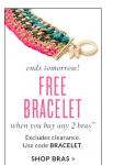 Victoria's Secret: Free Bracelet With Purchase of Two Bras- Ends Tomorrow!