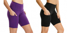 Women's High Waist Tummy Control Yoga Shorts Just $10.19!