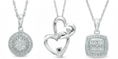 Diamond Accent Sterling Silver Pendants ONLY $29.99 Shipped!