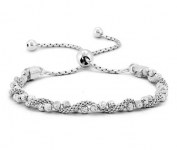 Sterling Silver Diamond-Cut Ball Covered by Twisted Coreana Adjustable Bolo Bracelet$37.94 (REG $79.99)