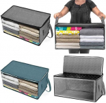 Fanala Large Capacity Clothes Storage Bag Organizer with Reinforced Handle Thick Fabric for Comforters, Blankets $4.99 (REG $25.95)
