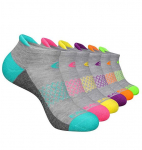 LIMITED TIME DEAL!!! Womens Ankle Socks 6 Pairs Running Athletic Cushioned Tab Socks$10.94 (REG $19.99)