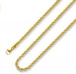 18k Real Gold Plated Rope Chain 2.5mm 5mm  $5.04 (REG $9.88)