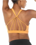 icyzone Padded Strappy Sports Bra Yoga Tops Activewear Workout Clothes$16.99 (REG $48.00)