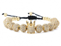 GVUSMIL Luxury CZ Imperial Crown Braided Copper Bracelets $19.78 (REG $29.98)