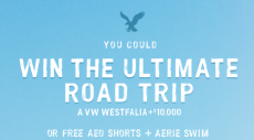 American Eagle & Aerie Roap Trip Sweepstakes and Instant Win Game- Win AEO Shorts, Aerie Bathing Suits, and more!