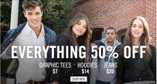 Aeropostale: Everything is 50% off- Last Day!