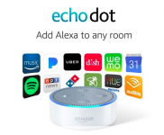 Repurposed Amazon Echo Dot (2nd Generation) Smart speaker with Alexa on sale for $19.99