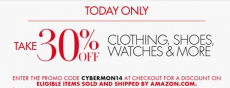 Amazon: Get 30% off Clothing, Shoes, Watches and more!