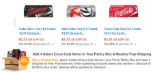 Amazon Prime Pantry- Coke 12-Packs Only $3.33 Shipped to Your Door + FREE $5.99 Credit!